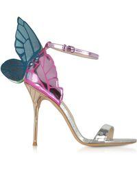 7f3afbcf0048 On sale Sophia Webster - Silver Chiara Metallic Mid Sandals - Lyst