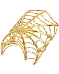 Bernard Delettrez - Giant Spiderweb Bronze Cuff Bracelet - Lyst