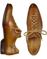 FORZIERI Herrenschuhe zum Schnüren aus italienischem Leder in braun