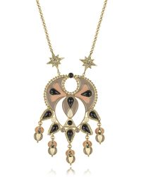 Roberto Cavalli - Gold-tone And Enamel W/multicolor Crystals Long Necklace - Lyst