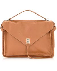 Rebecca Minkoff Cognac Embossed Leather Darren Messenger Bag - Brown