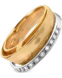 Torrini - Tama - Diamond Channel 18k Yellow Gold Band Ring - Lyst