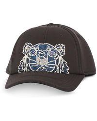 KENZO Kampus Neoprene Tiger Baseball Cap - Negro
