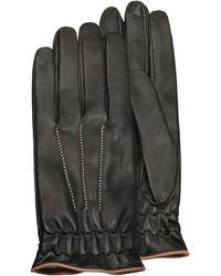 FORZIERI - Herren-Handschuhe aus schwarzem Kaschmir und Kalbsleder - Lyst