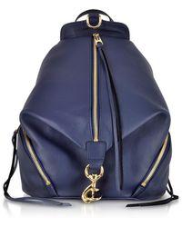 Rebecca Minkoff - True Navy Blue Leather Julian Backpack - Lyst
