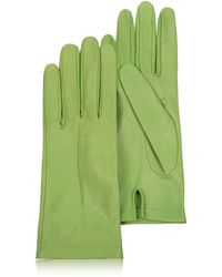 FORZIERI Women's Pistachio Unlined Italian Leather Gloves - Green