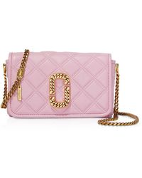 Marc Jacobs The Status Flap Quilted Leather Shoulder Bag - Rosa