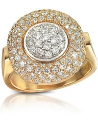 FORZIERI - 1.49 Ct Diamond Pave 18k Gold Ring - Lyst