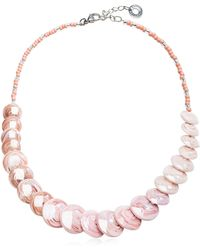 Antica Murrina - Monete 2 Pastel & Transparent Light Pink Murano Glass Choker - Lyst