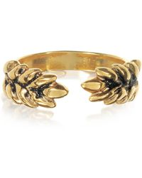 Aurelie Bidermann - 18k Gold-plated Two Cobs Wheat Ring - Lyst