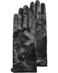 FORZIERI Damenhandschuhe aus Chenille in schwarz
