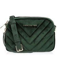 Lancaster Green Velvet Shoulder Bag