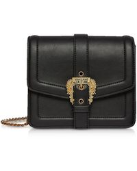 Versace Jeans Squared Classic Crossbody Bag W/ Buckle - Black