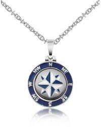 FORZIERI Stainless Steel Windrose Pendant Necklace - Metallic