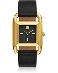 Tory Burch - Tbw7202 The Phipps Black Leather Women's Watch - Lyst