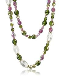 AZ Collection - Double Beaded Long Chain Necklace - Lyst