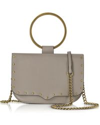 Rebecca Minkoff - Taupe Leather Ring Crossbody Bag - Lyst
