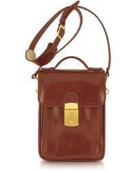 L.A.P.A. | Cognac Leather Vertical Briefcase | Lyst