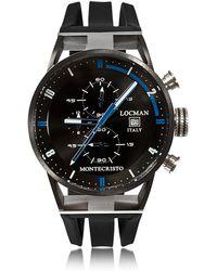 LOCMAN - Montecristo Reloj Cronógrafo para Hombre de Acero Inoxidable Negro y Titanio - Lyst
