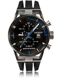 LOCMAN Montecristo Stainless Steel & Titanium Men's Chronograph Watch - Schwarz