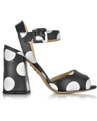 Charlotte Olympia Black Leather Sandals