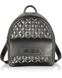 Love Moschino - Quilted Eco-leather Signature Backpack - Lyst