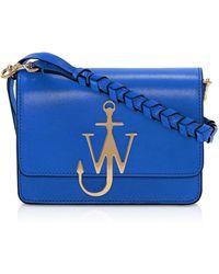JW Anderson Anchor Logo Bag w/Braided Strap - Azul