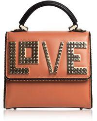 Les Petits Joueurs - Mini Alex Golden Love Leather Satchel Bag - Lyst