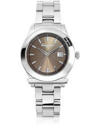 Ferragamo - Ferragamo 1898 Silver Tone Stainless Steel Women's Watch - Lyst