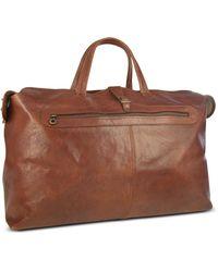 Robe Di Firenze - Sac de voyage en cuir italien marron - Lyst