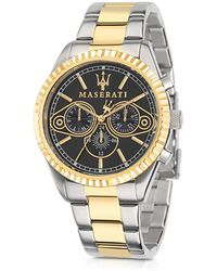 Maserati - Competizione Two Tone Stainless Steel Men's Watch - Lyst
