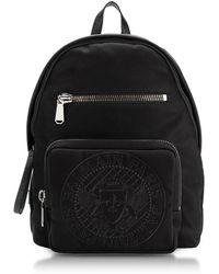 Balmain - Black Nylon Men's Club Backpack W/embossed Blazon - Lyst