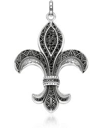 Thomas Sabo - Rebel Icon Sterling Silver Bourbon Lily Pendant W/ Cubic Zirconia - Lyst