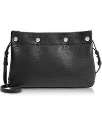 Rag & Bone Black Leather Compass Snap Crossbody Bag - Negro
