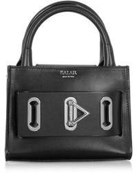 Salar Bella Basic Leather Top Handle Bag - Negro