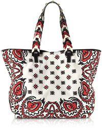 RED Valentino - Bandana Printed Canvas Tote Bag - Lyst