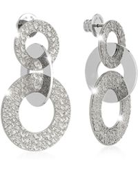 Rebecca - R-zero Rhodium Over Bronze Earrings - Lyst
