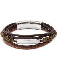 Fossil - Jf02703040 Vintage Casual Men's Bracelet - Lyst