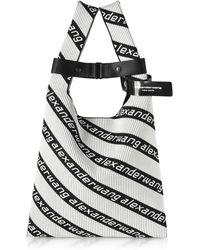 Alexander Wang - Kint Jacquard Logo Soft Striped Canvas Shopper - Lyst