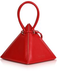 Nita Suri Lia Iconic Handtasche aus Leder - Rot