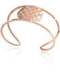 Rebecca - Melrose Rose Gold Over Bronze Cuff Bracelet - Lyst