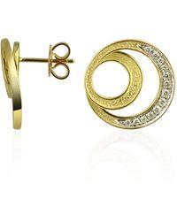 Torrini Infinity 18k Yellow Gold Diamond Earrings - Metallic