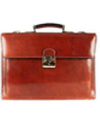 L.A.P.A. | Classic Cognac Leather Briefcase | Lyst