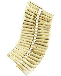 Pluma - Gold Fishbone Bangle - Lyst