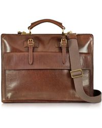 The Bridge - Story Uomo Brown Leather Briefcase - Lyst
