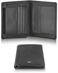 Porsche Design - Touch Black Leather V11 Vertical Billfold Wallet - Lyst