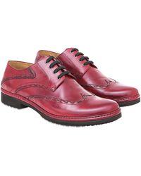 Pakerson Burgundy Cortona Derby Shoes - Purple