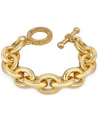 AZ Collection Gold Plated Chain Toggle Bracelet - Metallic