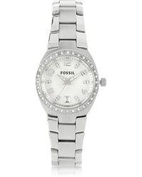 Fossil - Stainless Steel & Crystals Women's Bracelet Watch - Lyst