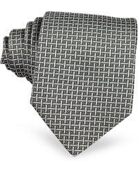 FORZIERI - Silver Ceremony Silk Tie - Lyst
